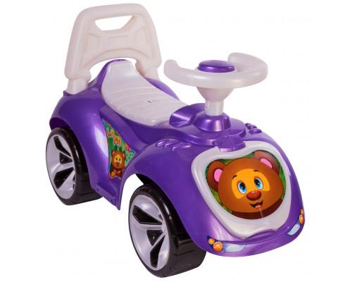 Каталка машинка Мишка (LAPA) цвет фиолетовый ОР758