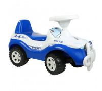 Каталка машинка Джипик POLICE с клаксоном бело-синяя ОР105