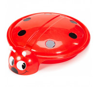 Песочница - бассейн БОЖЬЯ КОРОВКА с крышкой красный, диаметр 92 см