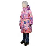 Пальто весна-осень TOMAS Цветок, сиреневый