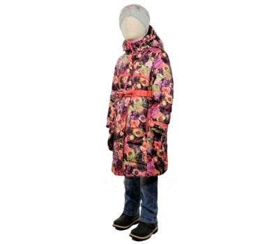 Пальто весна-осень TOMAS Цветок, бордовый
