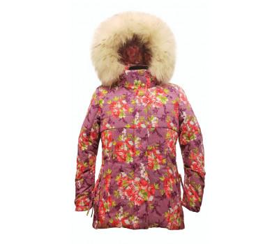 """Зимняя куртка TOMAS """"Виктория"""" сирень-Р р.122-152"""