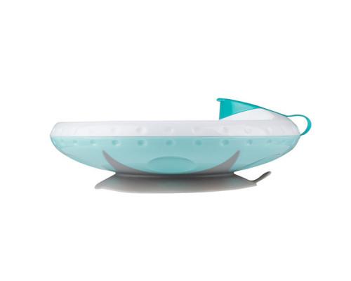 Тарелка с подогревающим дном и присоской BabyOno мята