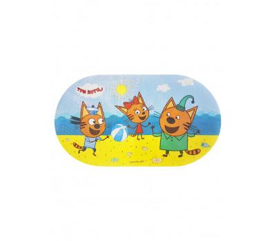 """Коврик для ванной """"Три кота, пляжный волейбол"""" Uviton/ 69*39"""