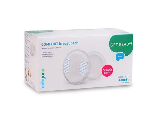 Вкладыши для груди Comfort (50шт. + 20 в подарок!), BabyOno