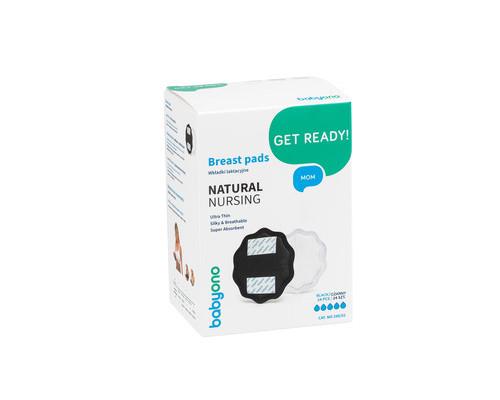 Вкладыши для груди Natural Nursing черные (24шт.), BabyOno