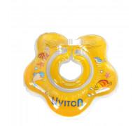 Круг для купания с погремушкой Uviton (желтый)