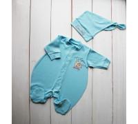 """Набор для новорожденного PLUMP """"Bear sport"""", голубой + подарок царапки"""