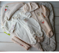 "Комплект на выписку весна-осень PLUMP ""Bear sport"", светло-бежевый + подарок царапки"