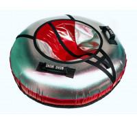 Санки надувные Тюбинг RT NEO со светодиодами красный, диаметр 105 см