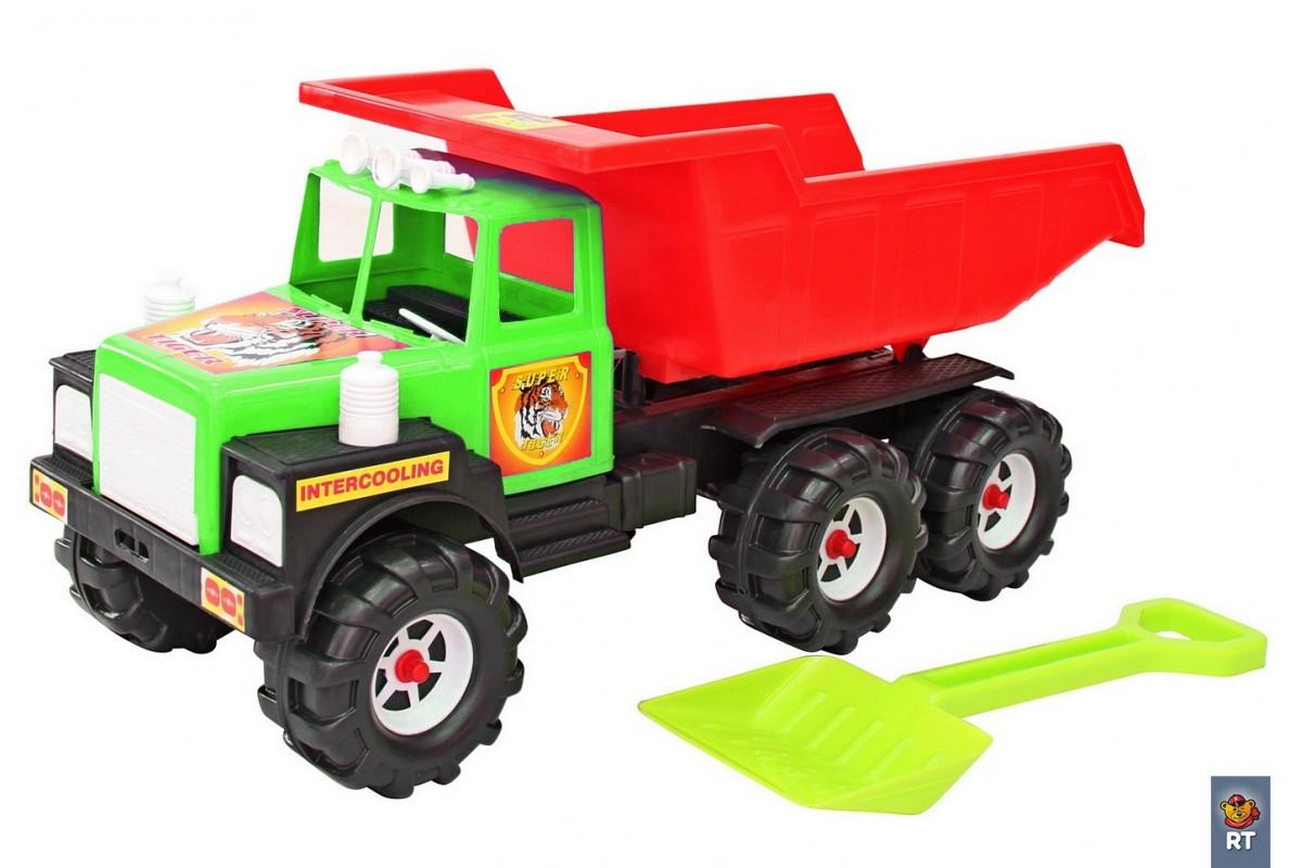 Машина RT МАН (лопата) зелено-красный 08-804