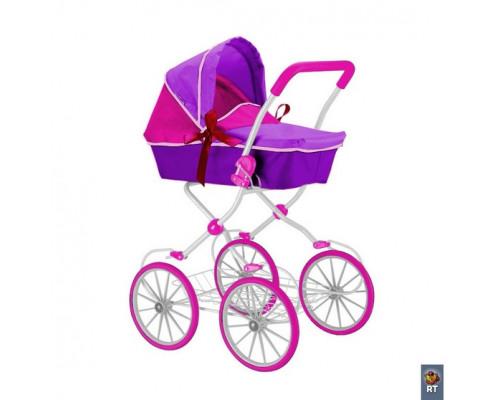Кукольная коляска RT фуксия 603
