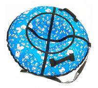 Санки надувные Тюбинг RT Собачки на голубом + автокамера, диаметр 105 см