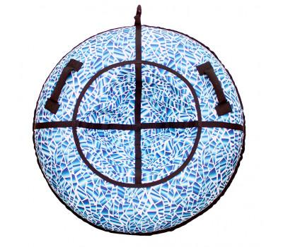 Санки надувные Тюбинг RT Осколки горного хрусталя, диаметр 118 см